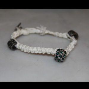 🌵Knitted emerald charm bracelet Kappa Delta